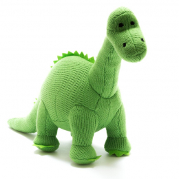Knitted Green Diplodocus - Medium size