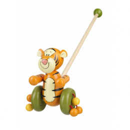 Tigger Push Along Wooden Toy - Boxed